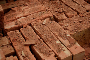 building materials red bricks